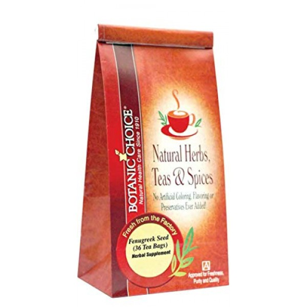 Botanic Choice Fenugreek Seed Tea Bags - 36 count,36 tea bags