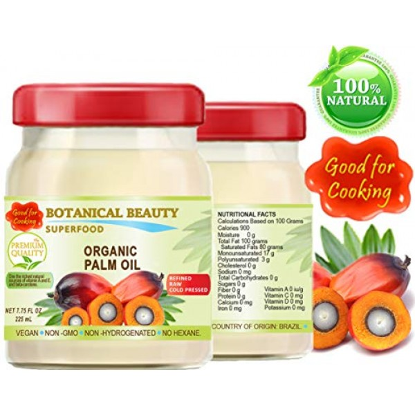ORGANIC PALM OIL.100% Pure Natural Cold Pressed. Food Grade Food...