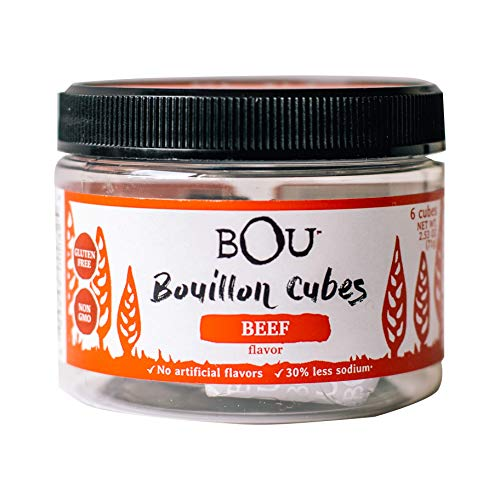 BOU Beef Flavored Bouillon Cubes, Pack of Six 6 2.53 Ounce Con...