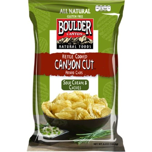 Boulder Canyon Kettle Cooked Potato Chips, Sour Cream & Chives, ...