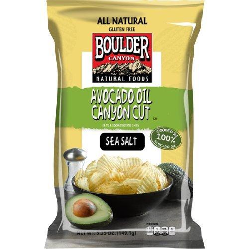 Boulder Canyon Kettle Cooked Potato Chips, Avocado Oil & Sea Sal...