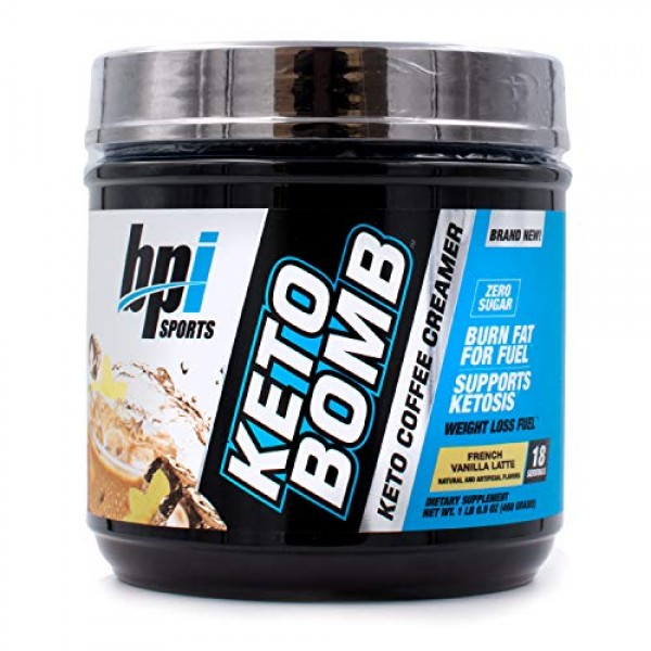 BPI Sports Keto Bomb Creamer Caramel Macchiato and French Vanill...