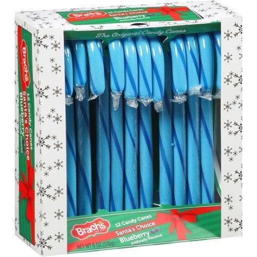 Brachs Santas Choice Blueberry Candy Canes 2 Packs