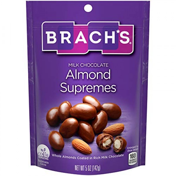 Brachs Milk Chocolate Almond Supremes, 5 Ounce, Pack of 8