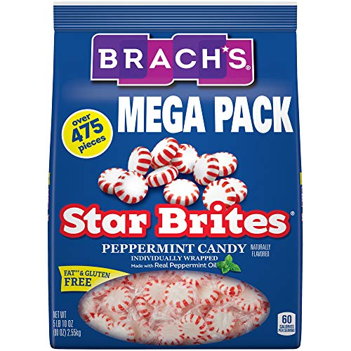 Brachs Star Brites Peppermint Starlight Mints Hard Candy, 5.63 ...