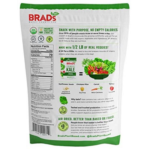 Brads Plant Based Organic Crunchy Kale, Original Pro, 12Bags, 2...