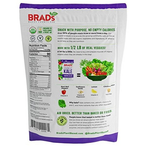 Brads Plant Based Organic Crunchy Kale, Vampire Killer, 12 Bags...