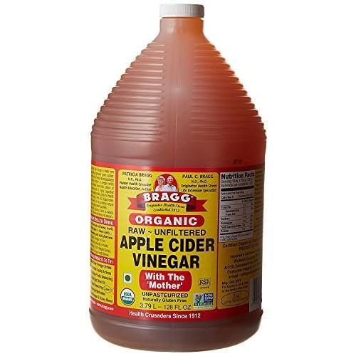 Organic Raw Apple Cider Vinegar Unfiltered Bragg 1 Gal 128oz L...