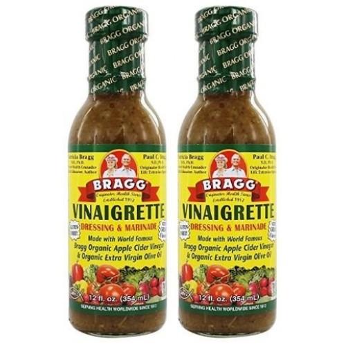 Bragg Dressing & Marinade Vinaigrette Organic 12 oz Pack of 2