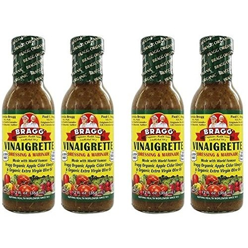 Bragg Dressing & Marinade Vinaigrette Organic 12 oz Pack of 4
