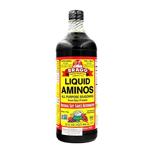 Bragg Liquid Aminos All Purpose Seasoning Soy Sauce Alternative,...