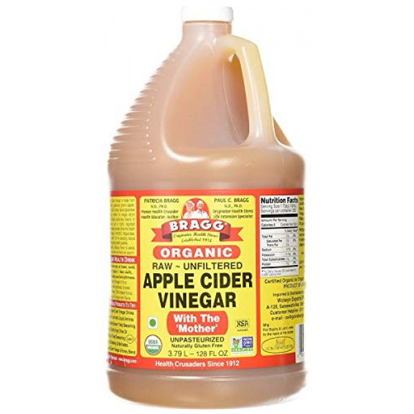 Bragg Organic Apple Cider Vinegar, Raw, Unfiltered, With The Mot...