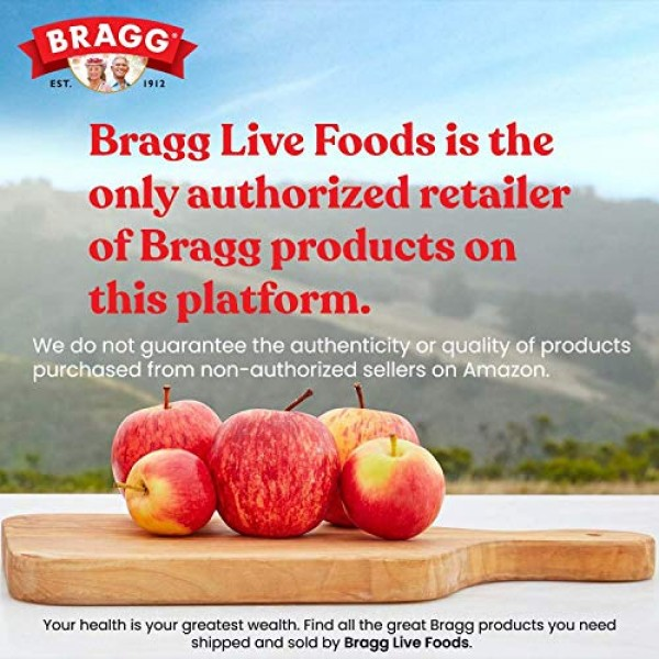 Bragg Organic Raw Unfiltered Apple Cider Vinegar with The Mother...