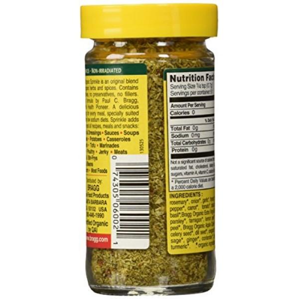 Bragg Organic Sprinkle Seasoning 1.50 Ounces 2 units