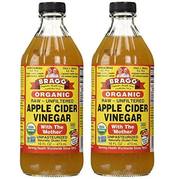 Bragg USDA Gluten Free Organic Raw Apple Cider Vinegar, 16 Ounce...