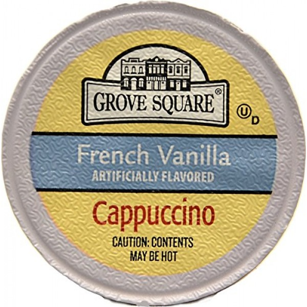 Grove Square Cappuccino, French Vanilla, 24 Count Single Serve Cups