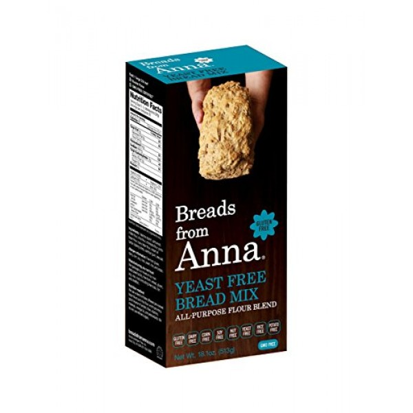 Breads from Anna, Yeast Free Bread Mix, Gluten yeast soy rice co...