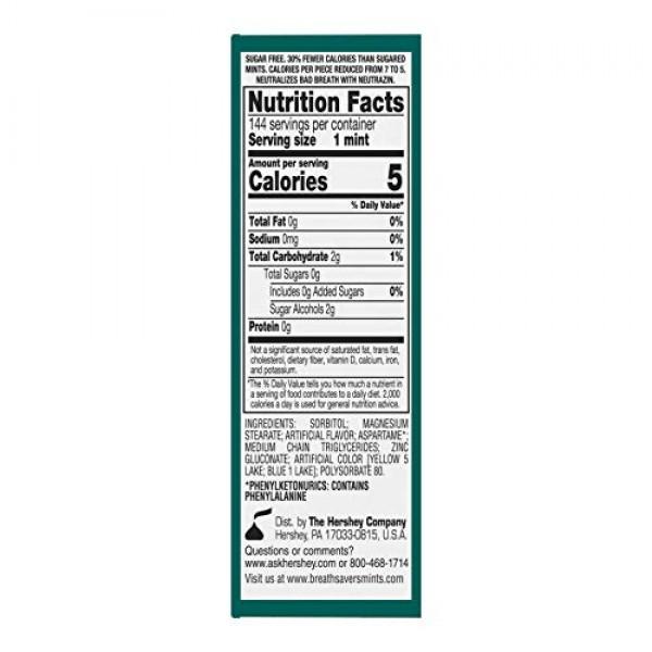 BREATH SAVERS Sugar Free Mints, Wintergreen, 0.75 Ounce Roll Pa...