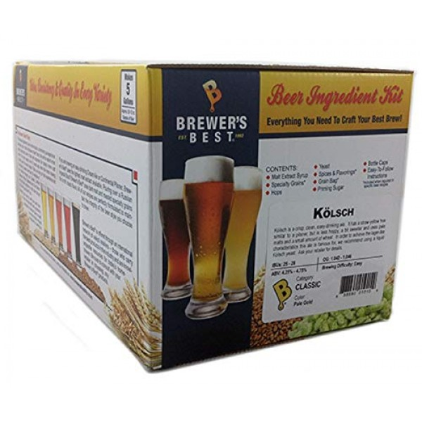 Brewers Best - Home Brew Beer Ingredient Kit 5 gallon, Kölsch