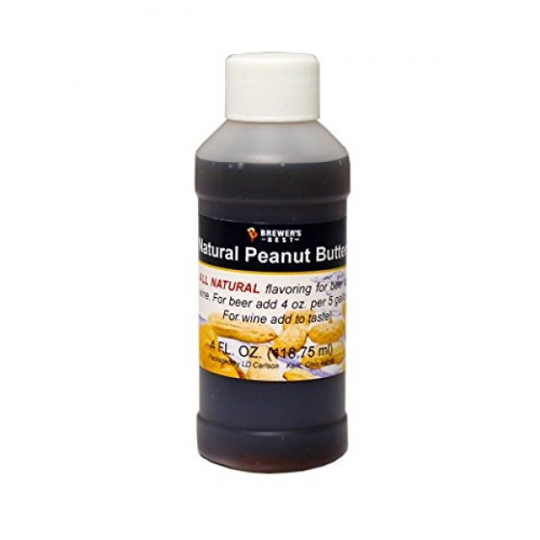 Brewers Best Natural Beer and Wine Fruit Flavoring Peanut Butter