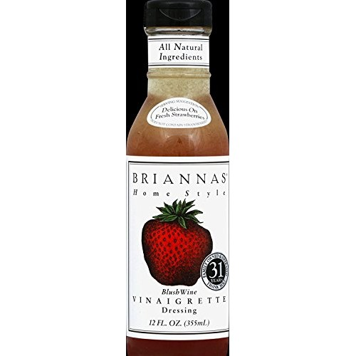 Briannas Home Style Dressings Blush Wine Vinaigrette -- 12 fl oz...