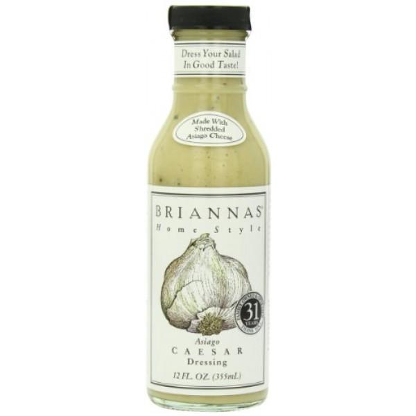 Briannas Dressing, Asiago Caesar, 12 Ounce Pack of 4