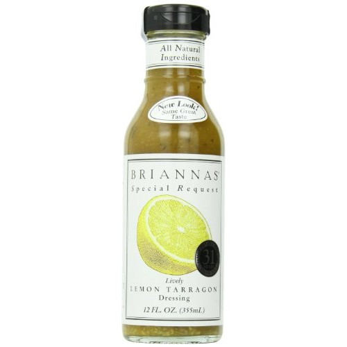 Briannas Dressing, Lemon Tarragon, 12 Ounce Pack of 4