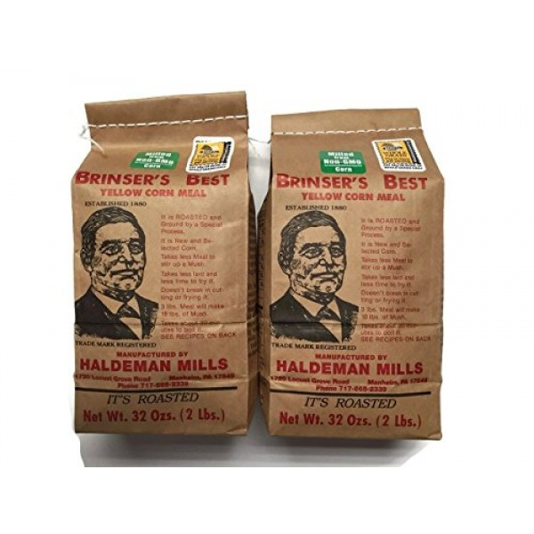 Brinsers Best Yellow Corn Meal, 2 Lbs. 32 Oz. Packages Set o...