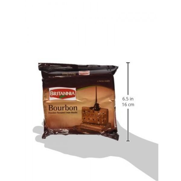 Britannia Bourbon Chocolate Flavoured Cream Biscuits ~ 13.7 oz/3...