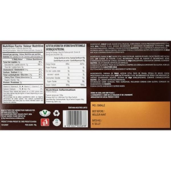 Britannia Bourbon Chocolate Flavoured Cream Biscuits 800 G