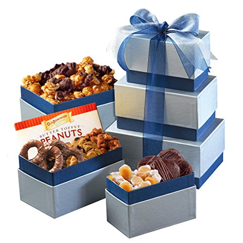 Broadway Basketeers Best Wishes Nuts & Chocolate Gift Tower With...