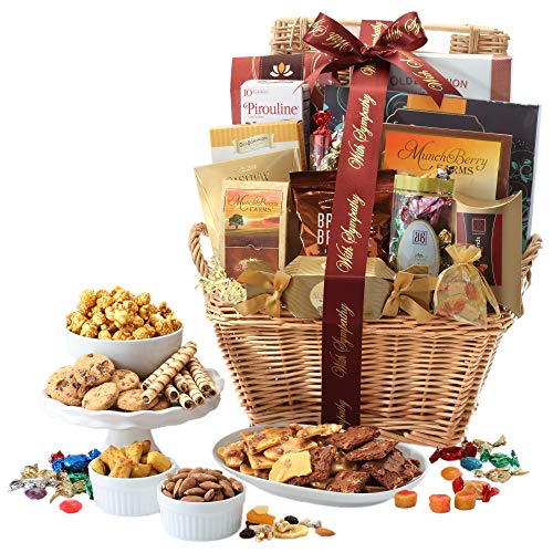 Broadway Basketeers with Sympathy Gift Basket Deluxe