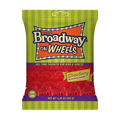Broadway on Wheels, Strawberry, 12 Ounce Pack of 12