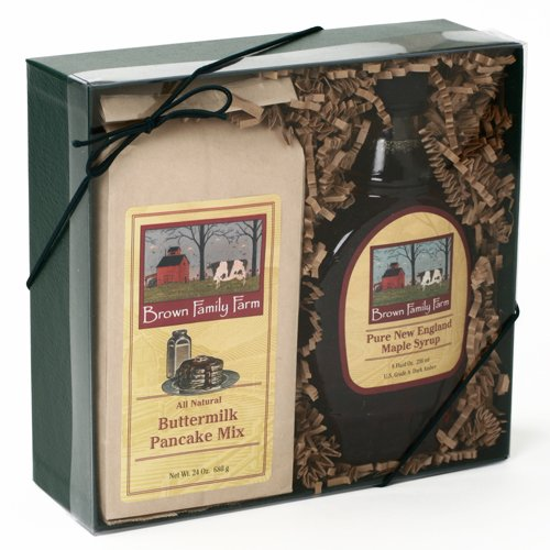 Vermont Maple Syrup and Pancake Mix Gift Box 2 pound