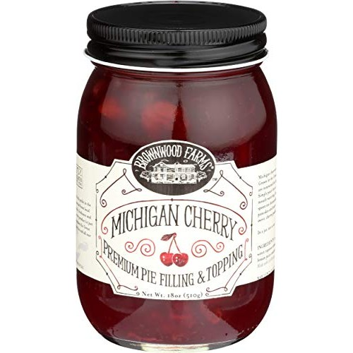 Brownwood Farms Cherry Pie Filling - 18 oz Best Michigan Topping...