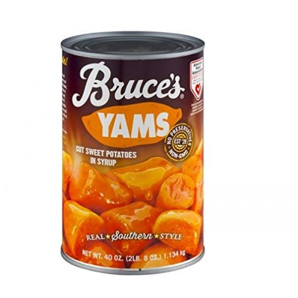 Bruces, Yams, Cut Sweet Potatoes in Syrup,40oz Can Pack of 2 ...