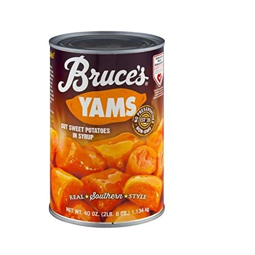 Bruces Yams, Sweet Potatoes in Syrup, 40 oz can 4 pack