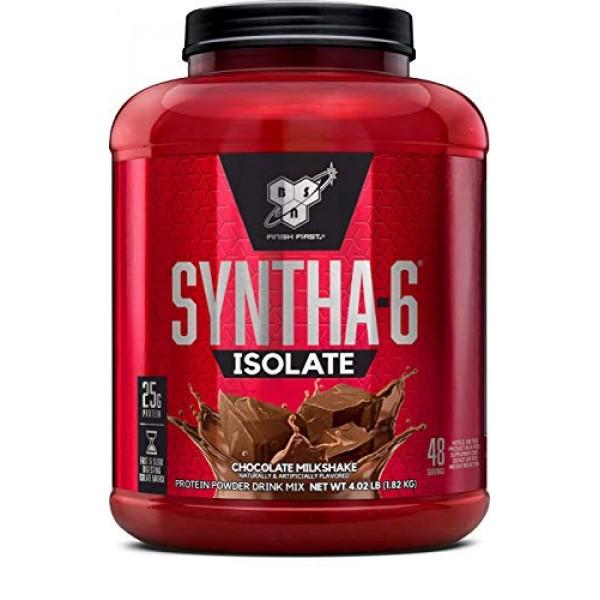 BSN SYNTHA-6 ISOLATE Protein Powder, Whey Protein Isolate, Milk ...