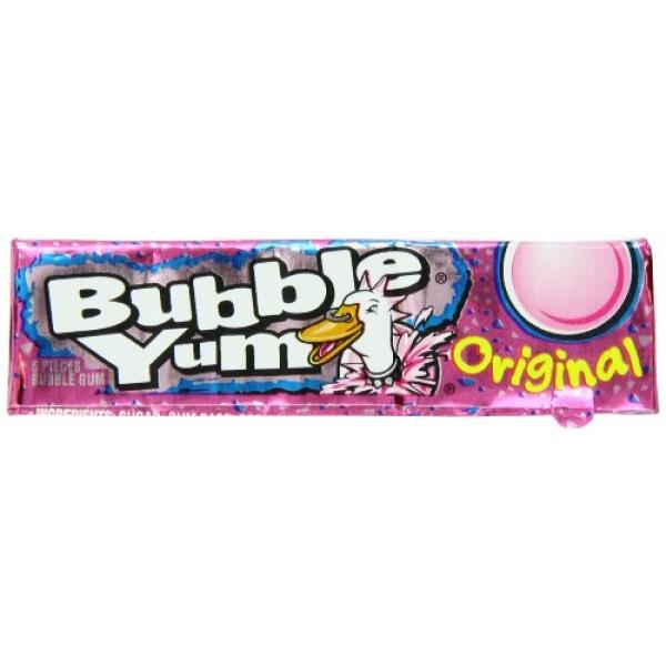 Hersheys Bubble Yum Regular, 5-Count Pack of 18