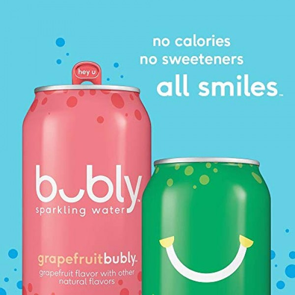 bubly Sparkling Water, Tropical Thrill Variety Pack, 12 fl oz. c...