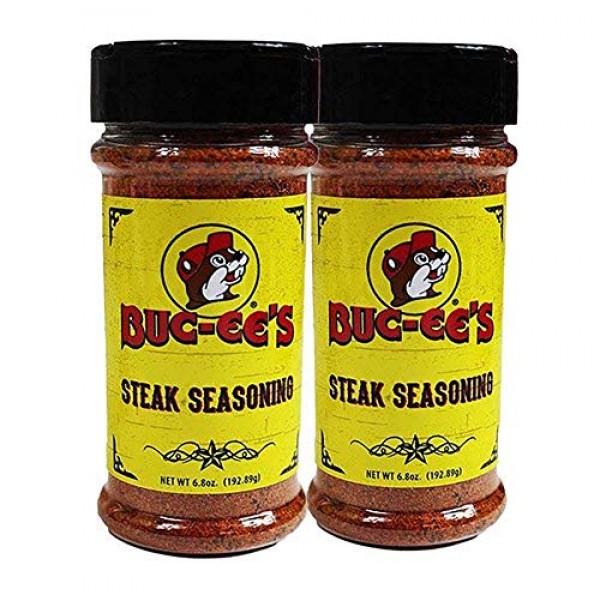 Buc-ees Steak Seasoning Dry Rub, Meat Seasoning, 2 Pack Set, 6...