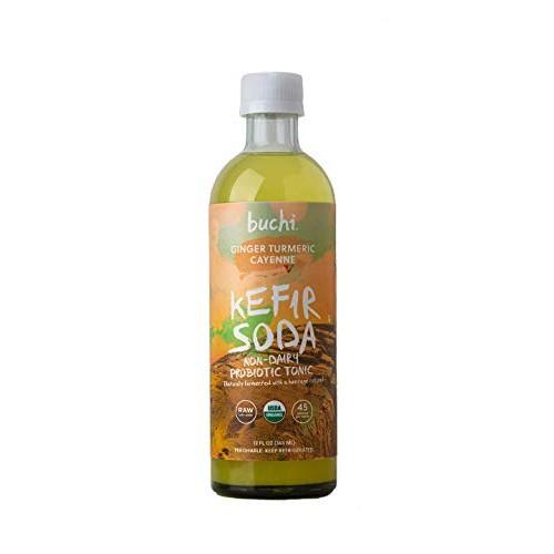 Buchi Kefir Soda Ginger Turmeric Cayenne, 12 Fluid Ounce Pack o...