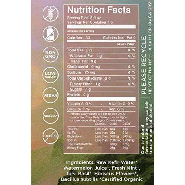 Buchi Kefir Soda Watermelon Mint Tulsi, 12 Fluid Ounce Pack of 6
