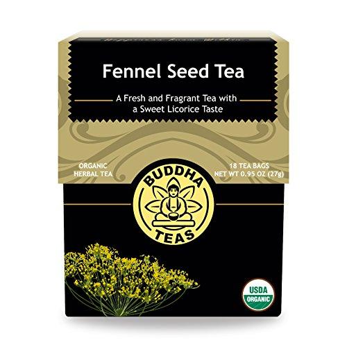Organic Fennel Seed Tea - Kosher, Caffeine-Free, GMO-Free - 18 B...
