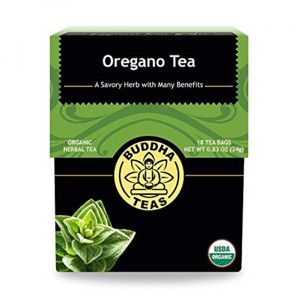 Organic Oregano Tea - Kosher, Caffeine Free, GMO-Free - 18 Bleac...