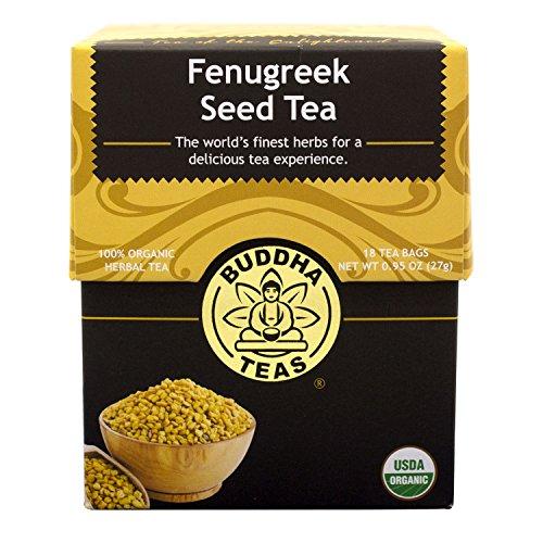Buddha Teas Fenugreek Seed Tea, 18 Count Pack of 6