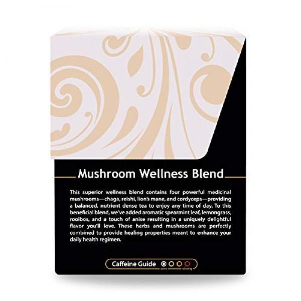 Buddha Teas Organic Mushroom Wellness Blend Tea 18 Tea Bags Made...