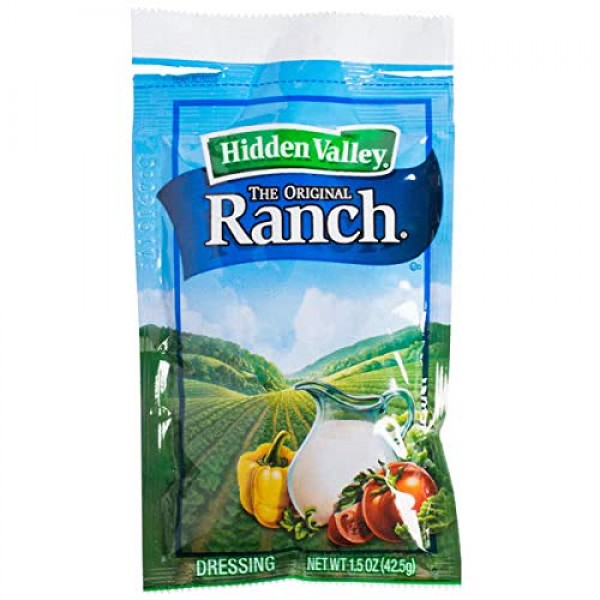 BWS Hidden Valley 1.5 oz. Original Ranch Dressing Packets, Case ...