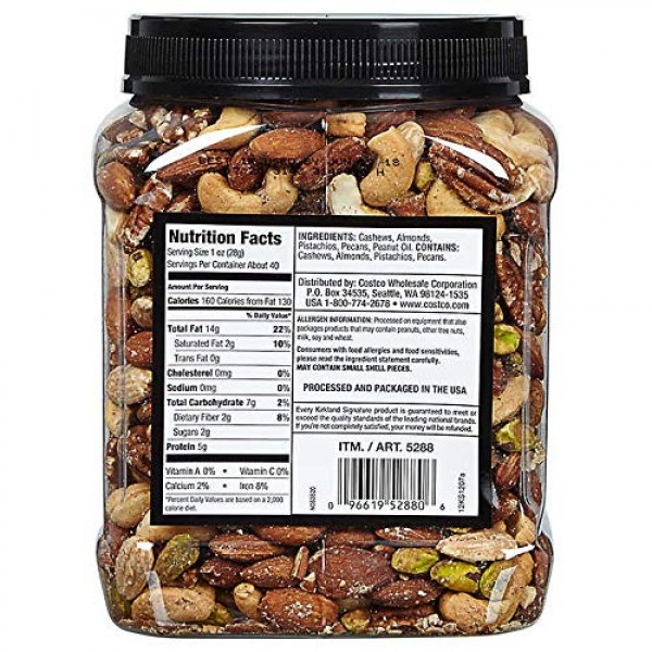 Kirkland Signature Extra Fancy Mixed Nuts, Unsalted and Shelled ...