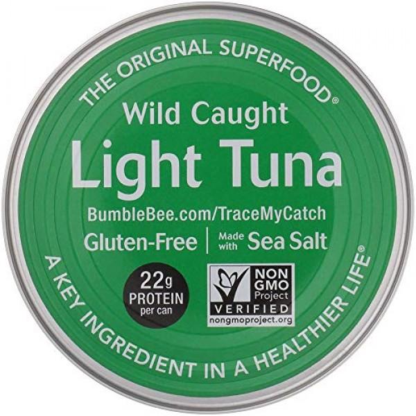 BUMBLE BEE Chunk Light Tuna In Water, Wild Caught, High Protein ...